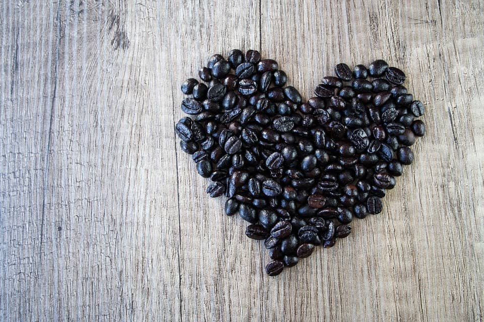 dark-roasted coffee bean